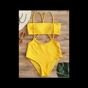 Bandeau Top , High Waisted Bikini